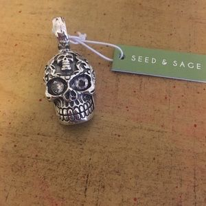 Seed & Sage Hollow Skull Pendent